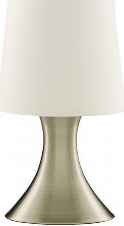"Mat Finish Brass Table Lamp 12""H"