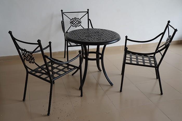 Matte Black Aluminium Chair