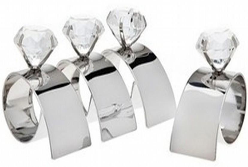 Metal Brass Diamond Napkin Ring
