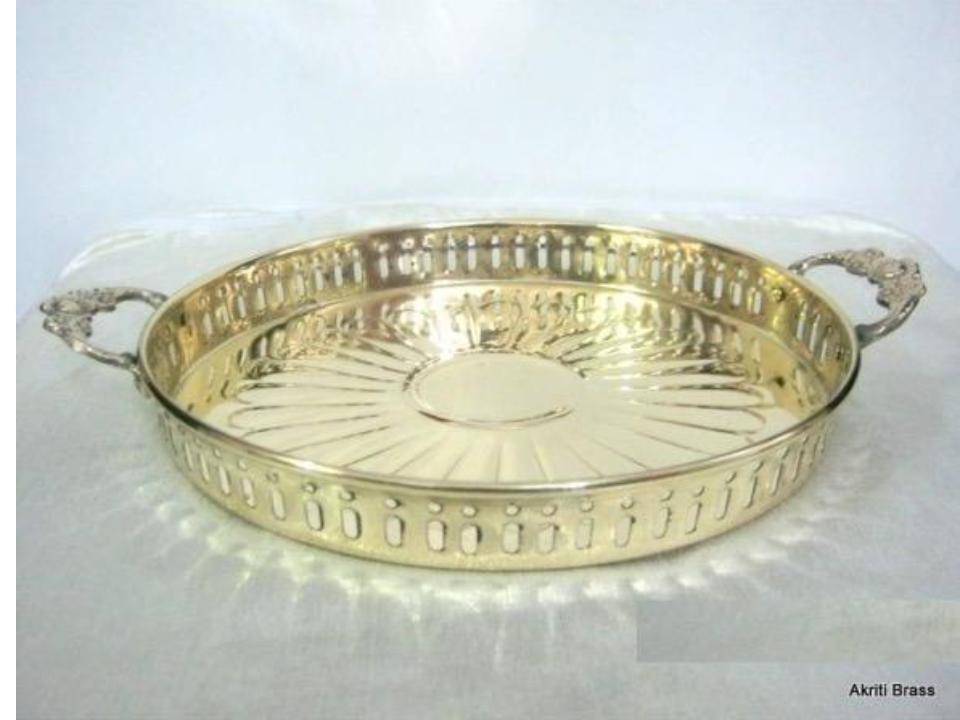 Metal Pooja Plate 12 Inch