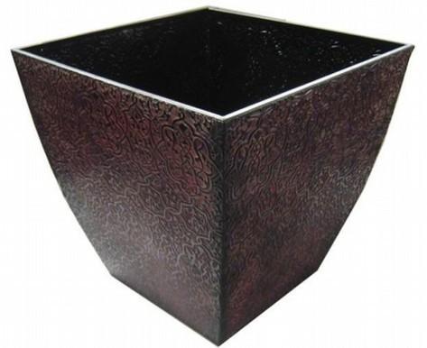 Metal Square 16 Inch Flower Pot