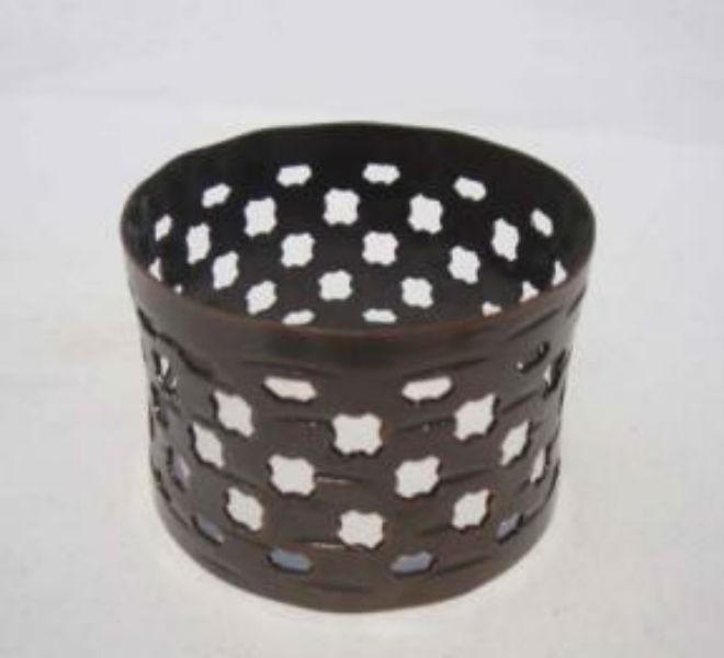 Napkin Ring cut out design copper antique finish