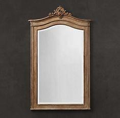 Wooden  Brown  Hand Curved Design Mirror Frame