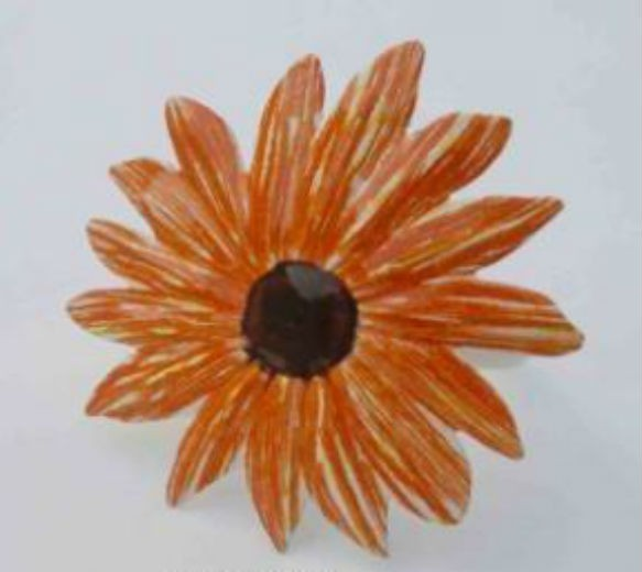 Orange color Flower Design Iron Napkin Ring