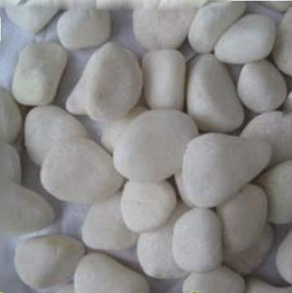 Pebble Stone snow white color, Size 8 to 12cm
