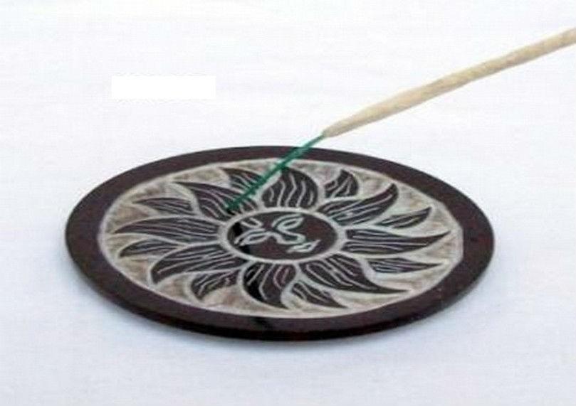 Pentagram Black Incense Stick Holder