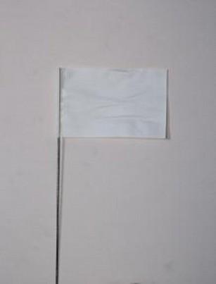 """Plain White Flag (4"""" X 5"""" X 30"""")"""