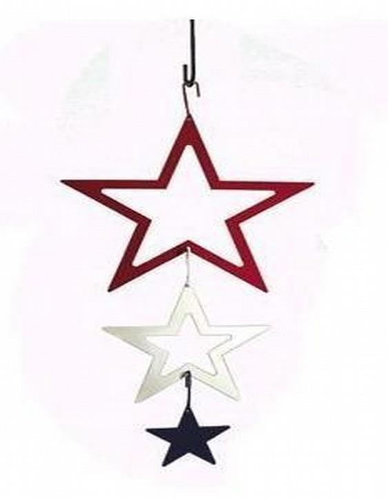 Powder Coated Iron Hanging Christmas Star