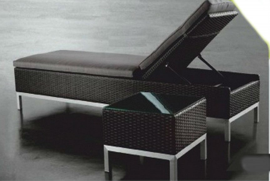 Tremendous Rattan Aluminium Pool Side Lounge Chair With Table Ncnpc Chair Design For Home Ncnpcorg