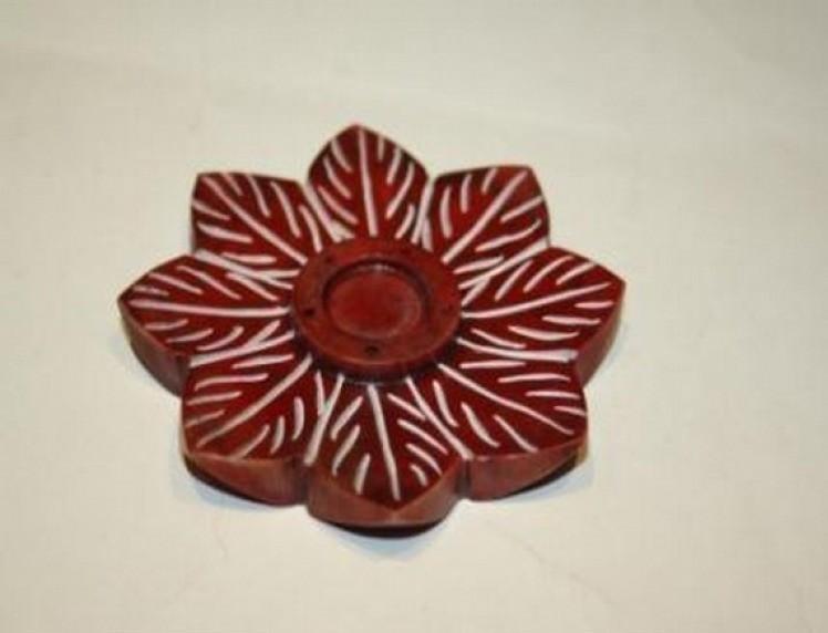 Red Flower Incense Stick Holder