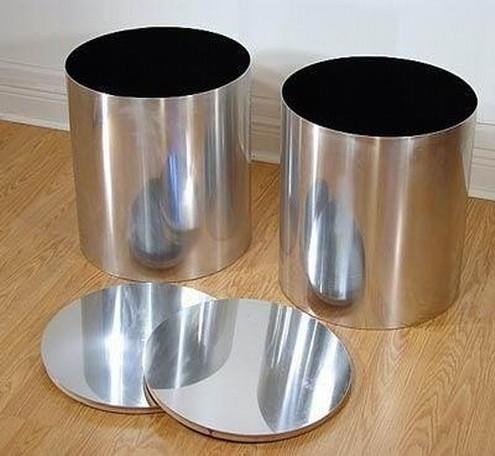 Round Cylinder 14 CM Metal Planter