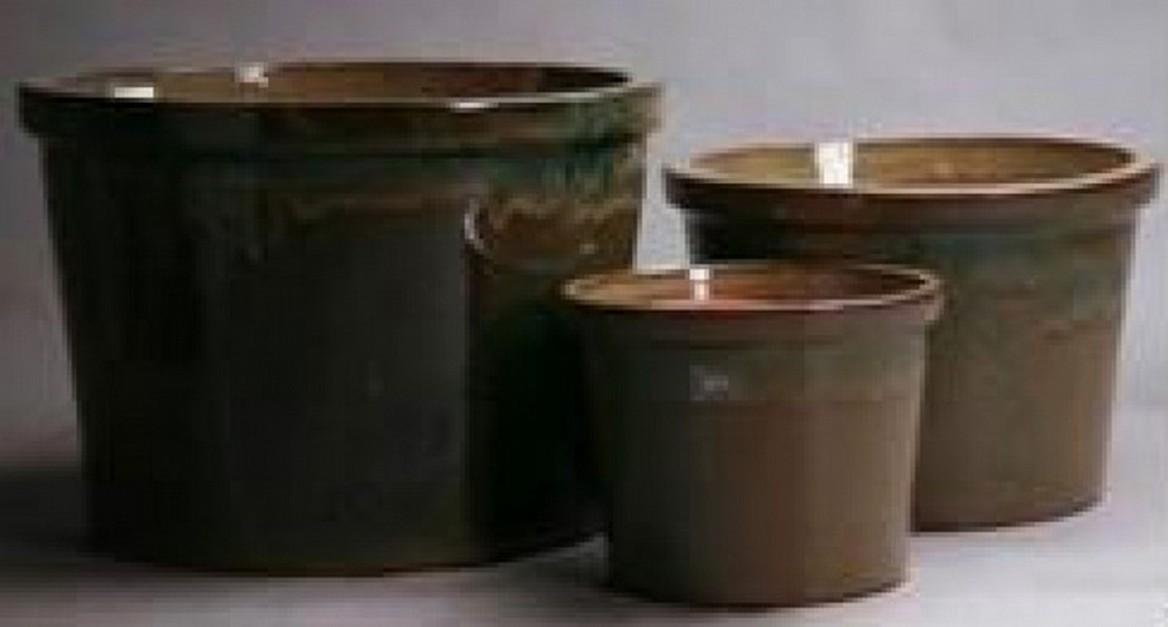 High Quality Green Ht 34 Cm Ceramic Pot