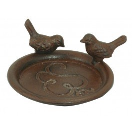 Rustic Finish Cast Iron Bird Feeder