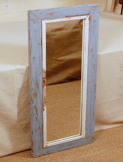 Shabby Chic Mango Wood Mirror Frame