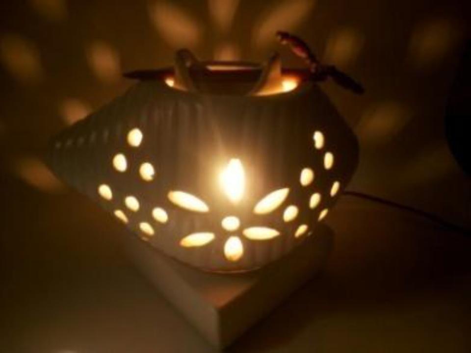 Shell Shape Aroma Lamp Set size-6 inch