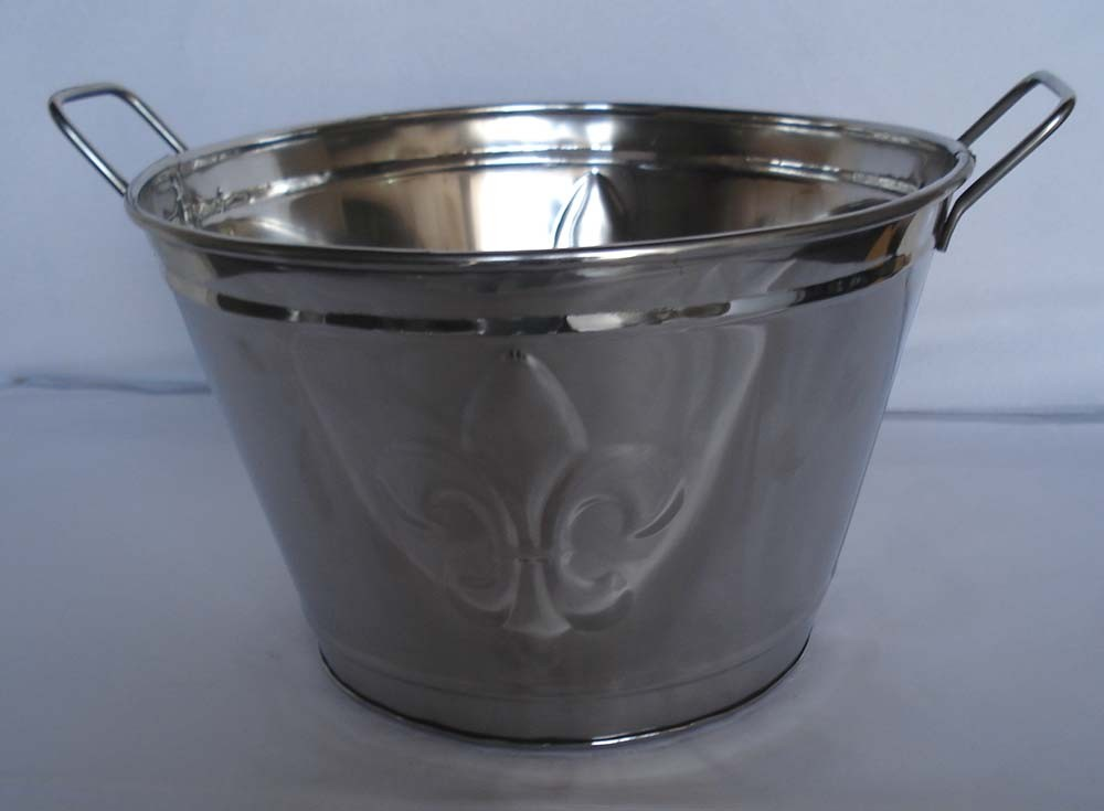 High Quality Galvanized Metal Planter With Handle