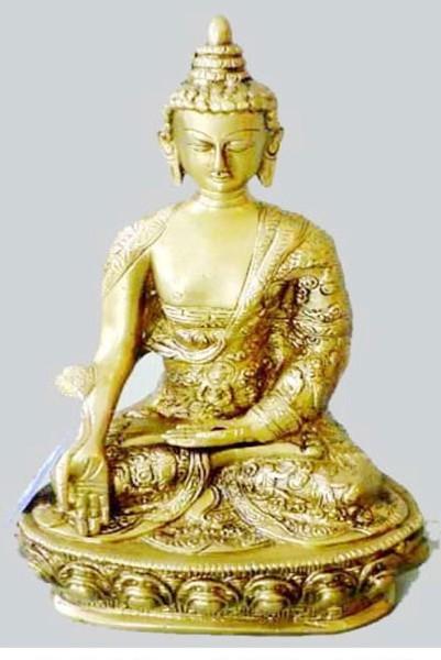 Sitting Buddha Statue, 15 Inches
