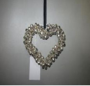 Small Heart Shaped Metal Christmas Decor