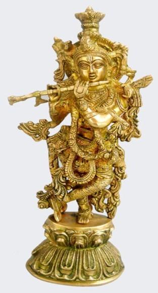 Standing Krishna Statue, 13 Inches