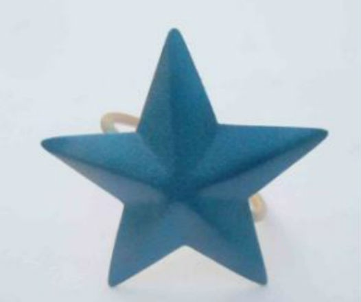 Star blue color Iron Napkin Ring