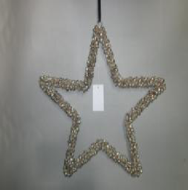 Star Shaped Beaded Hanging Christmas decor