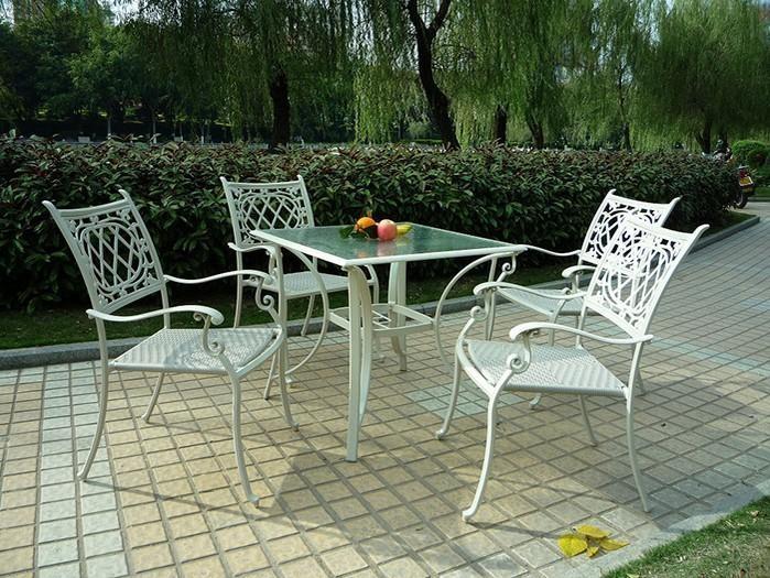 Stylish Aluminum Stackable PE Rattan Chair