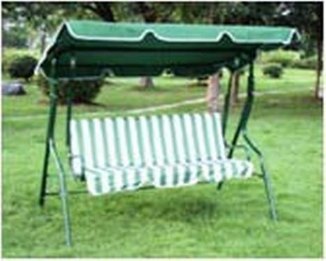 Three Seat Green Garden Swing Chair