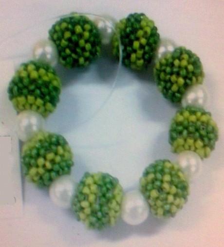 White Beads Napkin Rings