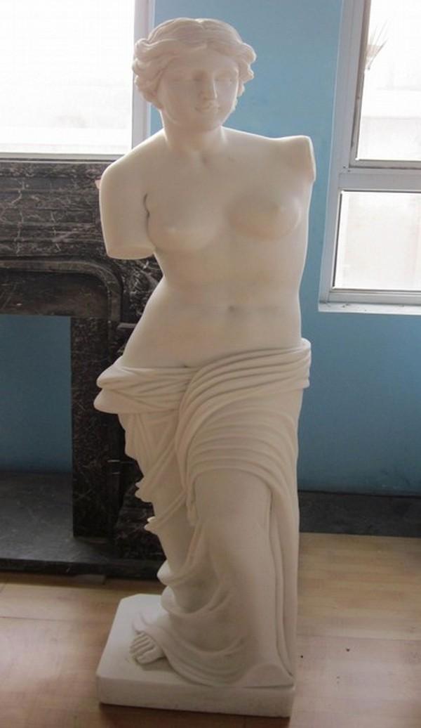 White Bonded Marble Venus di Milo Statue