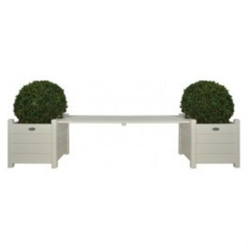 Wooden Garden Bench With Planter