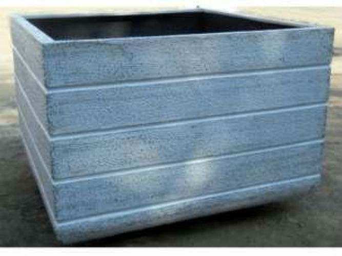 Durable Square 24 Inch Fiberglass Planter