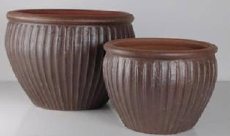 28cm Brown Earthenware Ceramic Planter