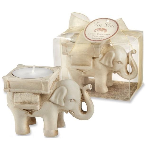 Elephant Shaped Antique-Ivory Candles Set of 50 Pcs