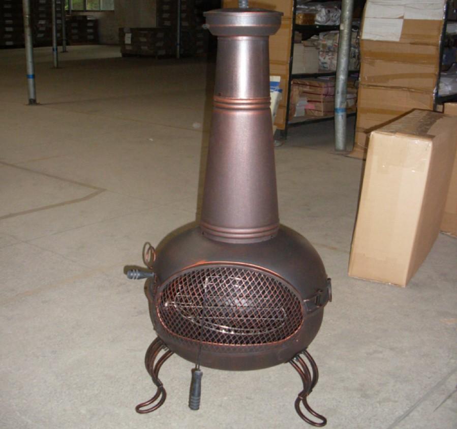 Fire pit for outdoor patio size 49 x 42 x 94 cm, D43cm