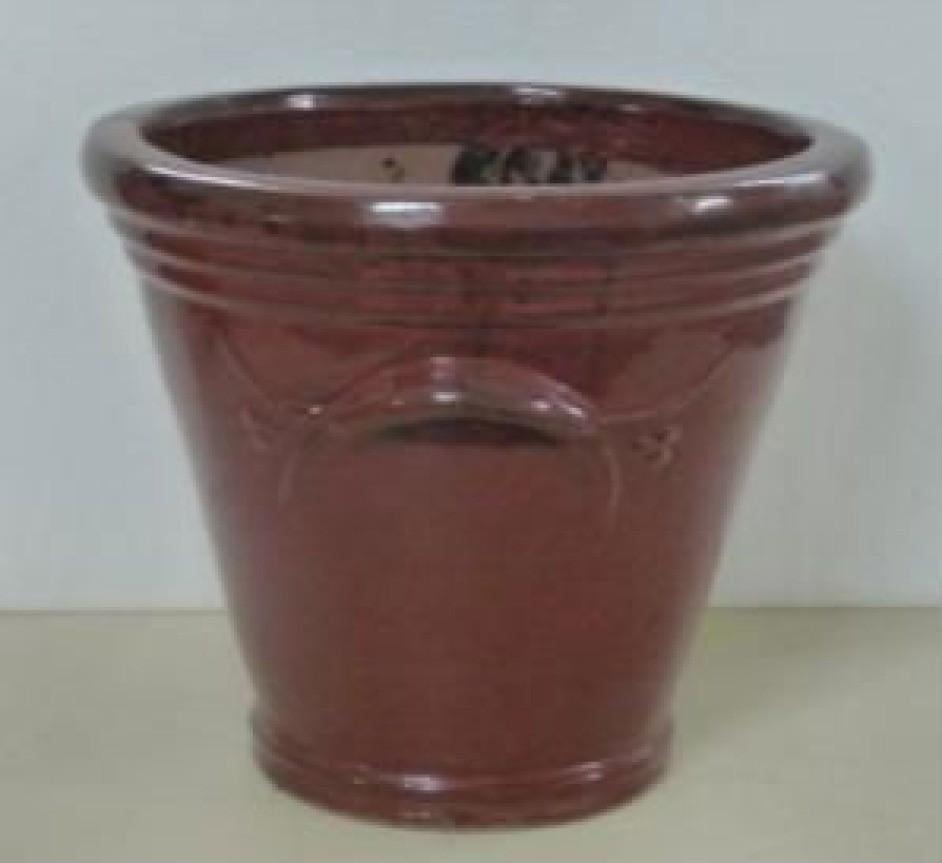 Decorative Dark Brown 19'' Ceramic Planter