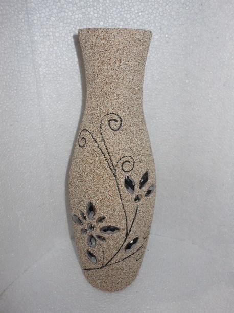 Matte Light Cream Designer Flower Vase