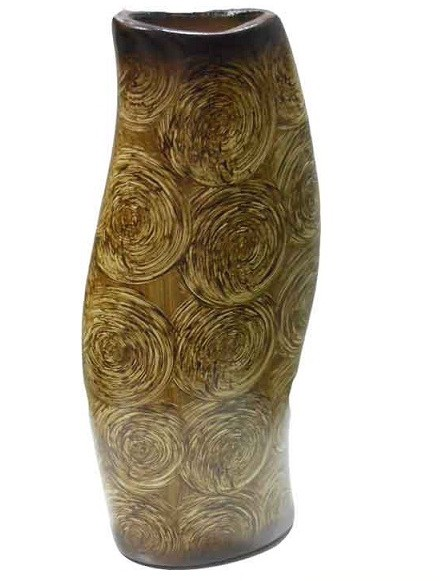 Natural Wood Bark Design Decorative Shape Flower Vase