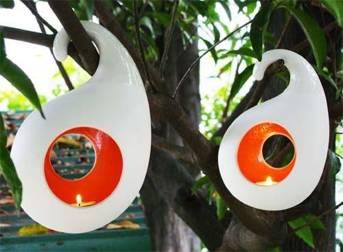 Flashing Fruit Hanging Candle Holder-Round-Small