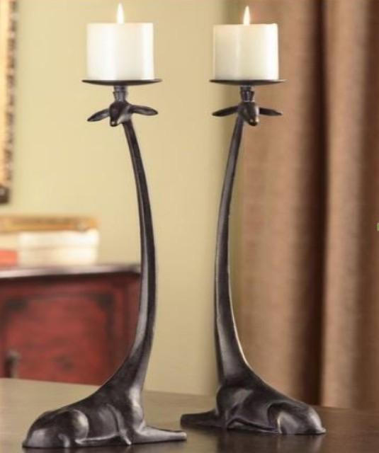 Attractive Giraffe  Design Candle Holder