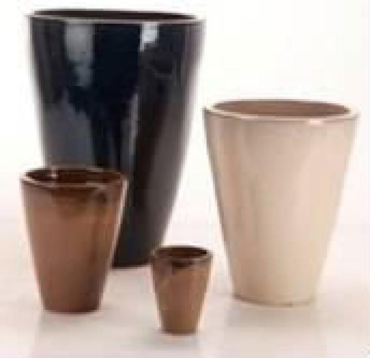 High Quality Black Ht 22'' Ceramic Planter