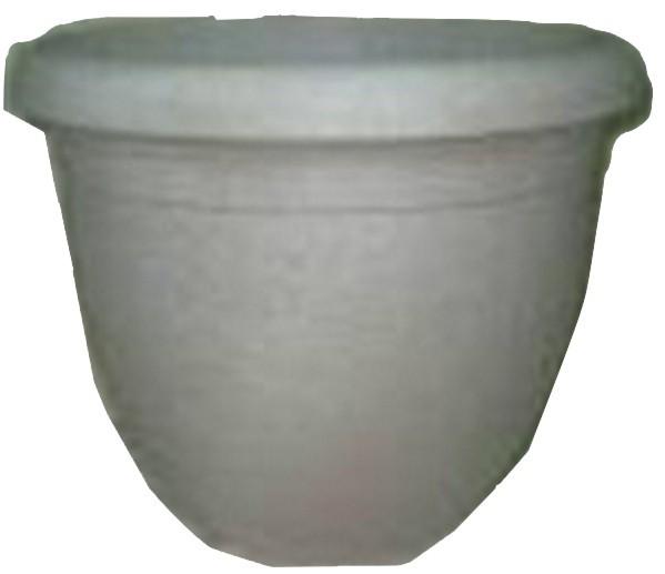 Grey Finish 15.5 Inch Height Plastic Planter