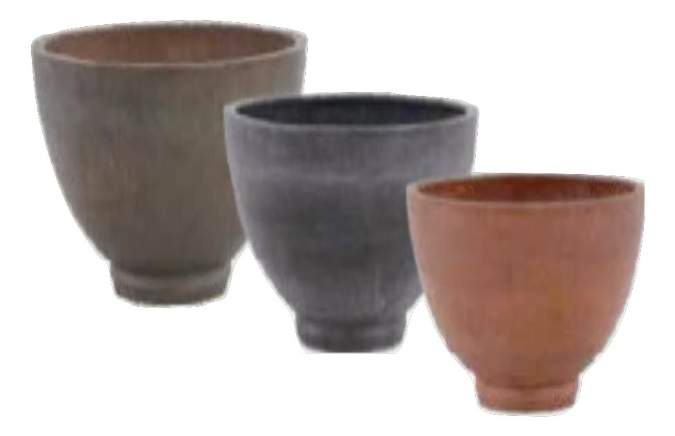 Grey Large 25cm Height Stone Planters