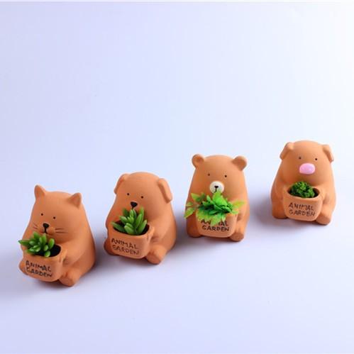 Hand Carved Finish Ceramic Pot Set Of 4 Pcs