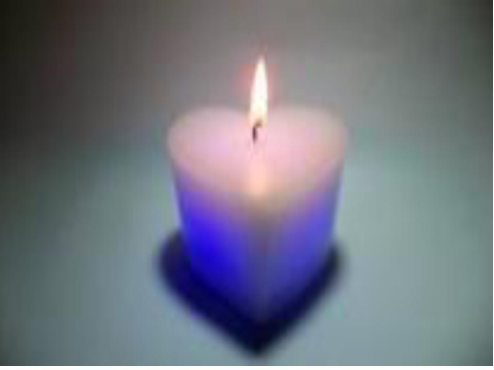 Led Heart candle
