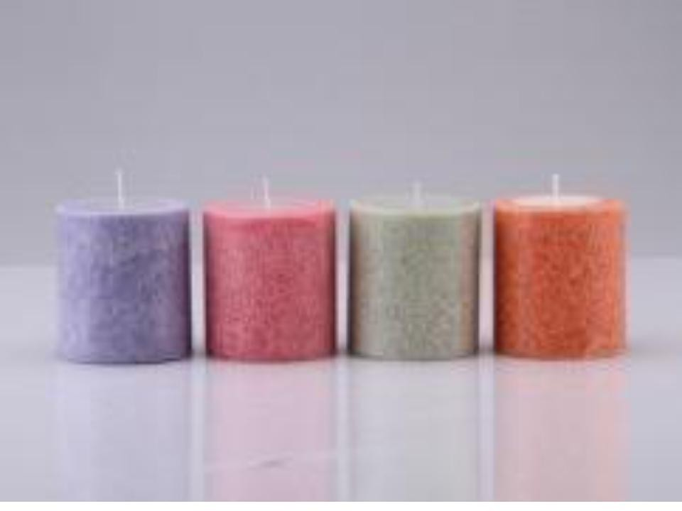 Decent plain design pillar candles