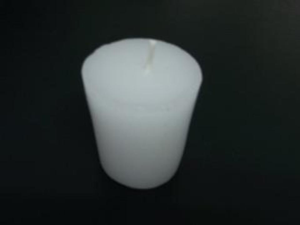 plain white tea light candle