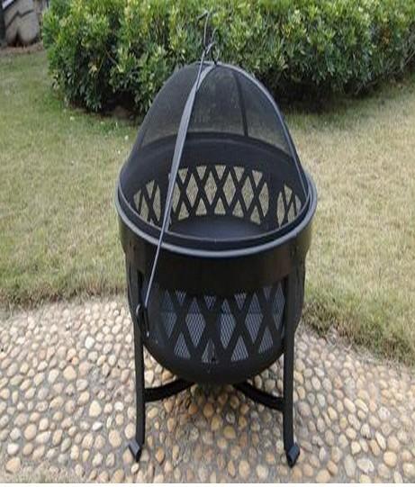 Fire pit for garden patio, size  62 x 47cm