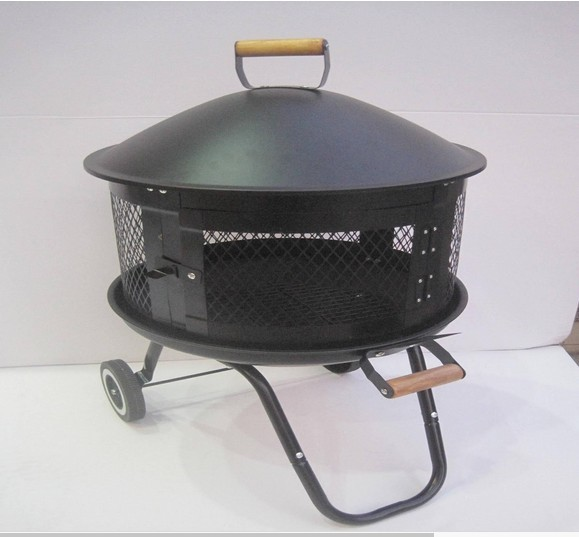 "Portable Outdoor Fire Pit, 36""D x 12"" H"