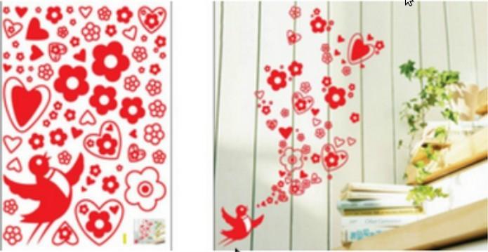 Wall sticker, size W 50 x L 70