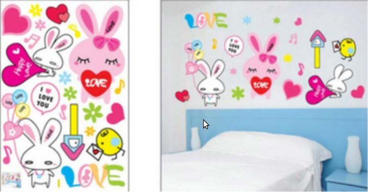 Wall sticker, size W 50 x L 70cm